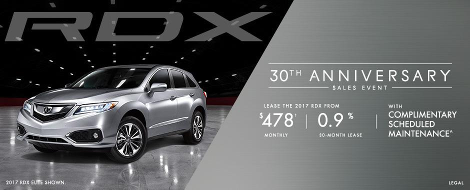 Acura RDX 30th Anniversary Sales Event