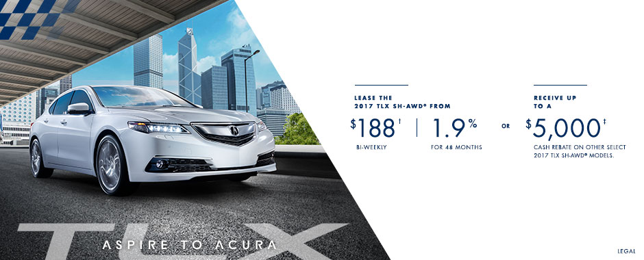 2017 Acura TLX — Aspire to Acura Event