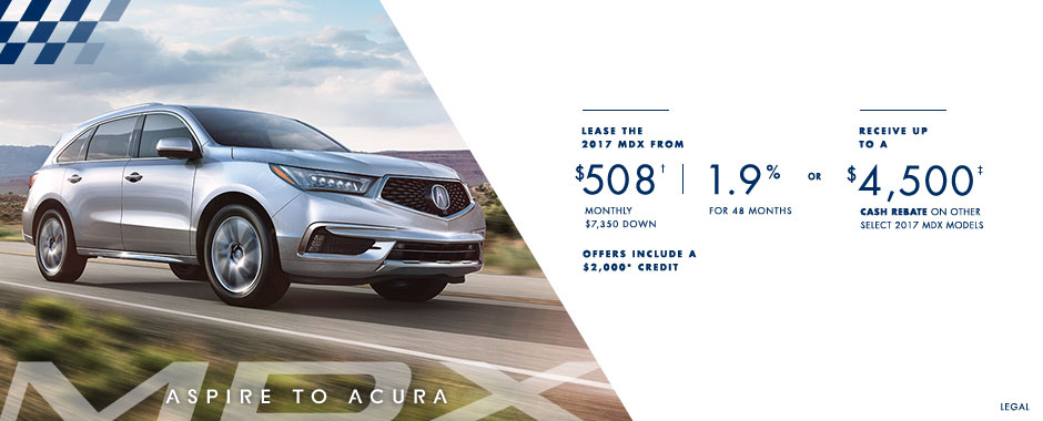 2017 Acura MDX — Aspire to Acura Event