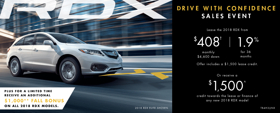 2018 Acura RDX  — Drive With Confidence Sales Event