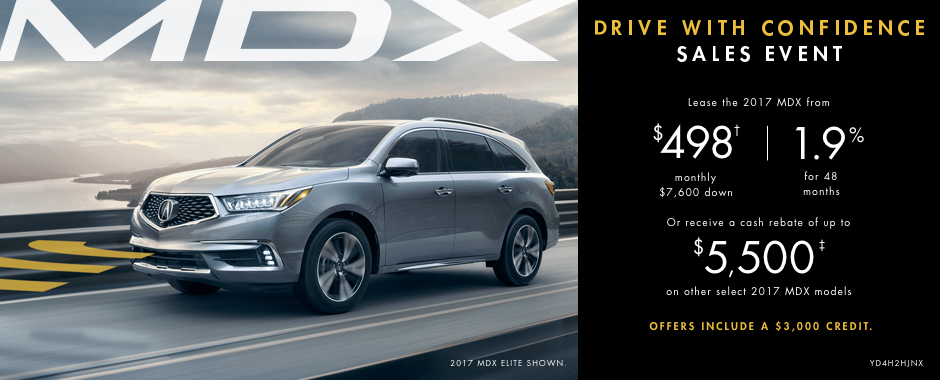 2017 Acura MDX — Drive With Confidence Sales Event