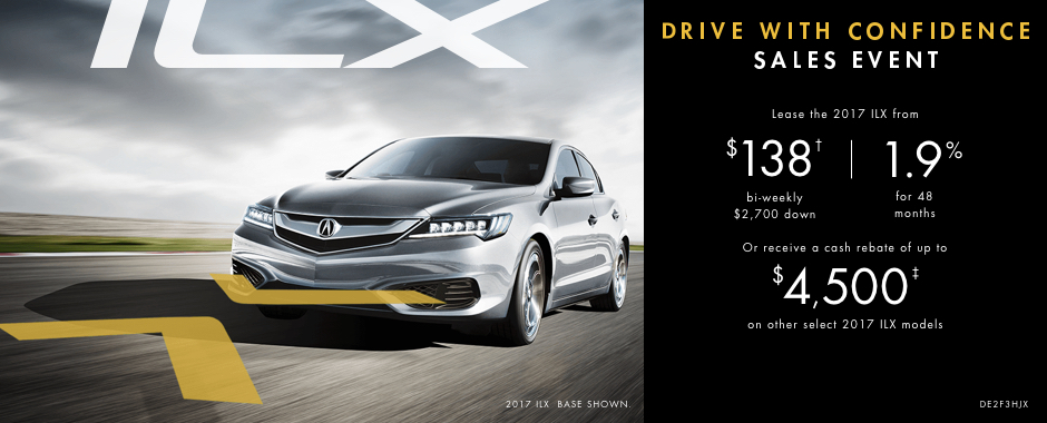 2017 Acura ILX — Drive With Confidence Sales Event