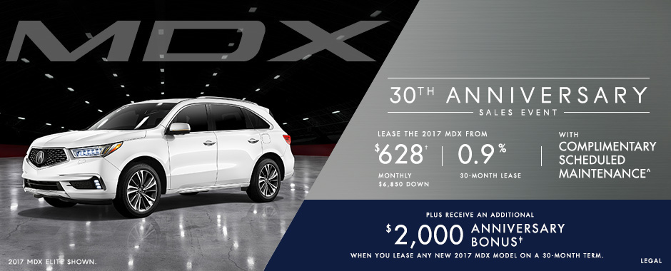 Acura MDX 30th Anniversary Sales Event
