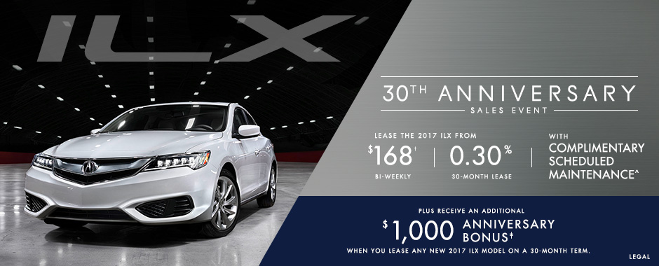 Acura ILX 30th Anniversary Sales Event