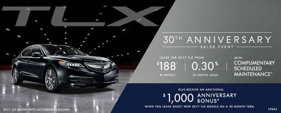Acura TLX 30th Anniversary Sales Event