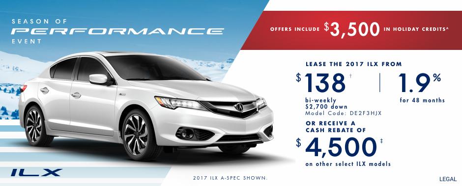 2017 Acura ILX — Season of Performance Event