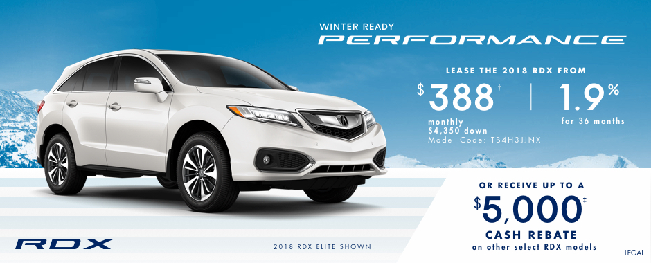 2018 Acura RDX  — Winter Ready Performance