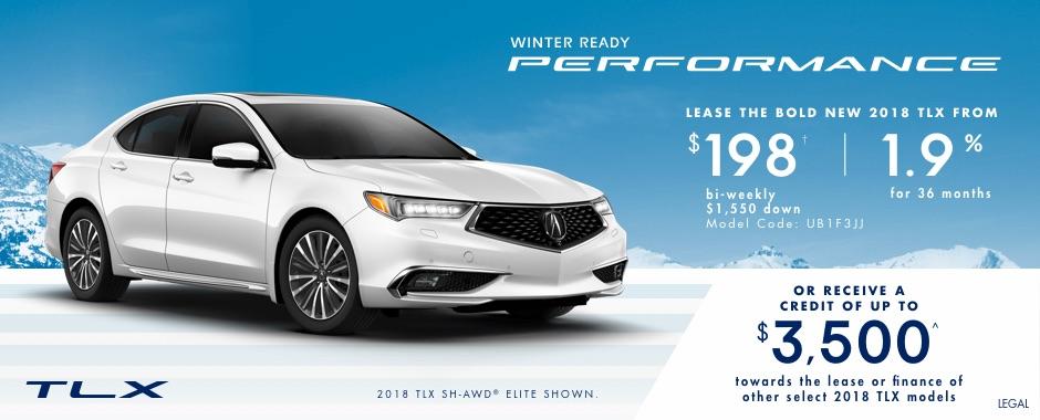 2018 Acura TLX — Winter Ready Performance