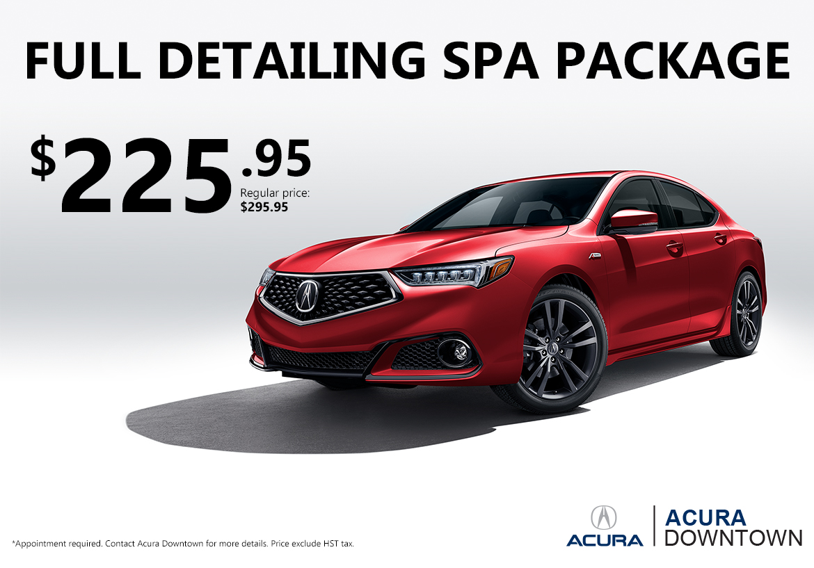 Full Detailing Package at Acura Downtown – $225.95