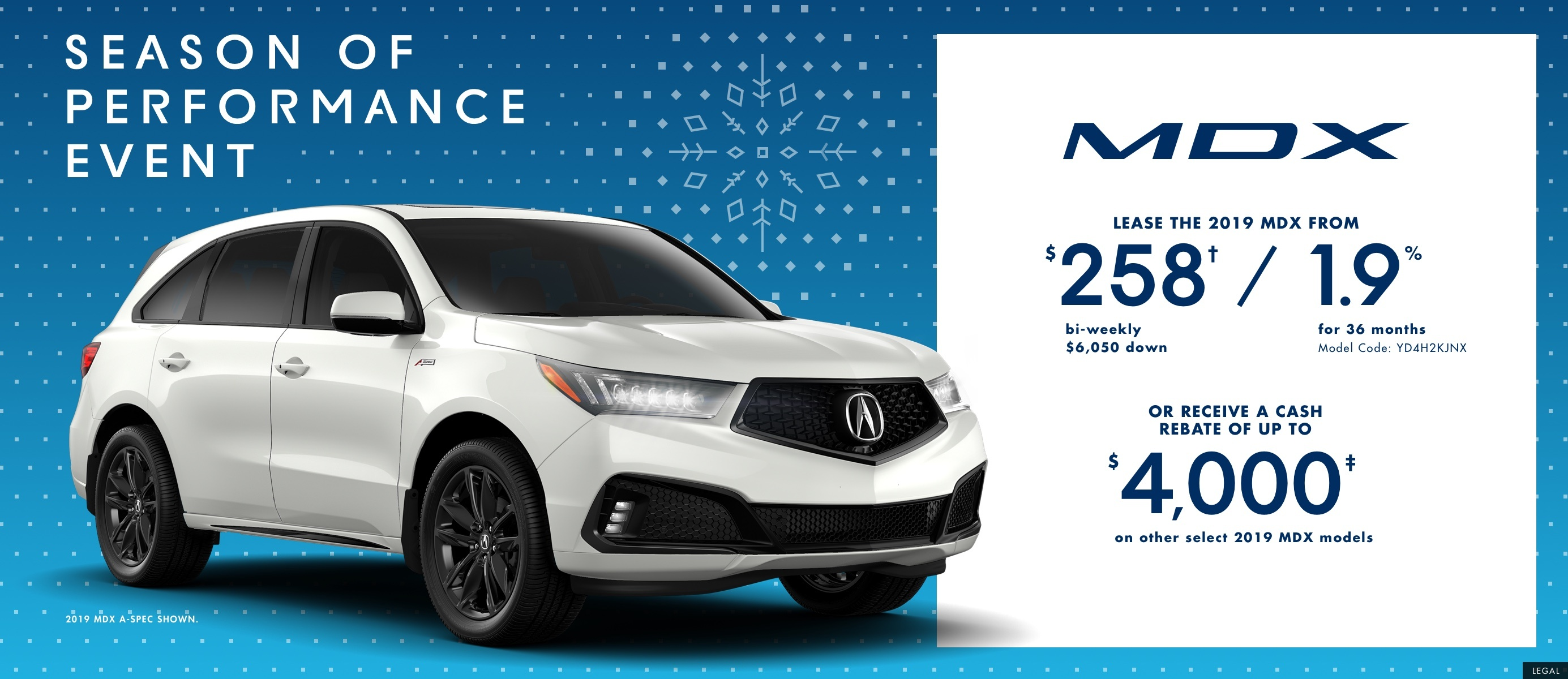 2019 Acura MDX |  Season of Performance Event