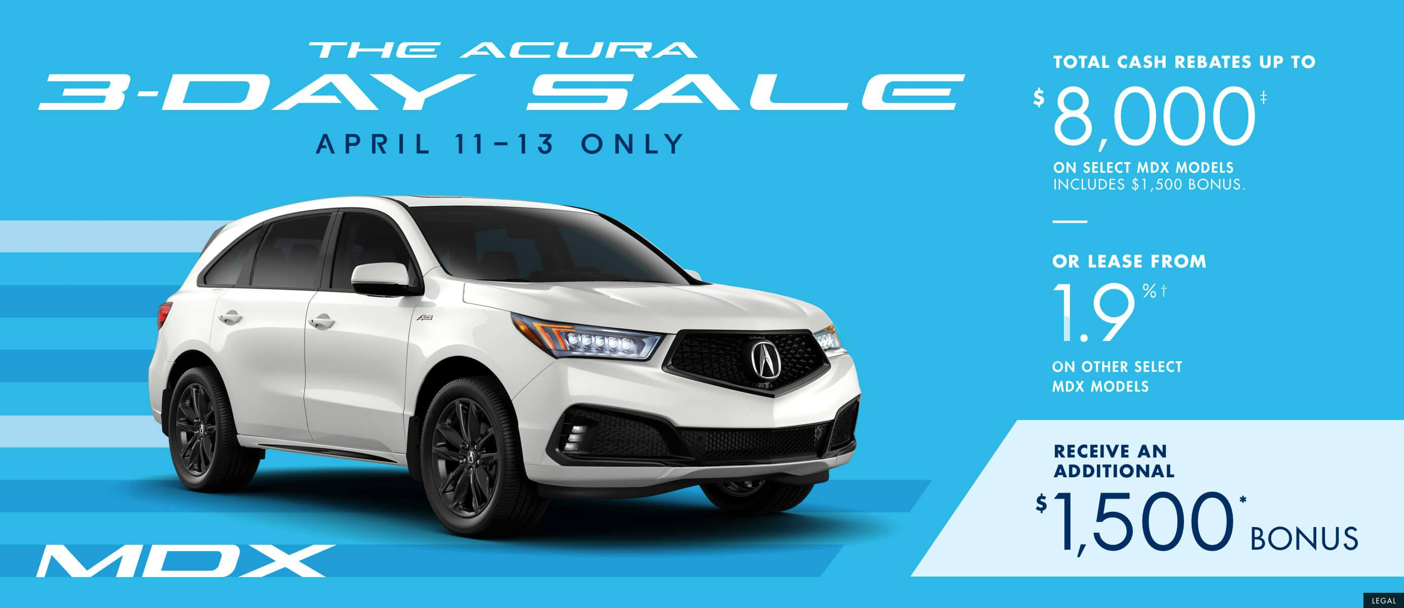 2019 Acura MDX | The Acura 3 Day Sale