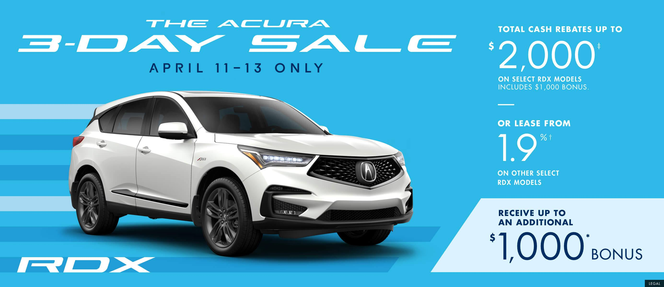 2019 Acura RDX | The Acura 3 Day Sale