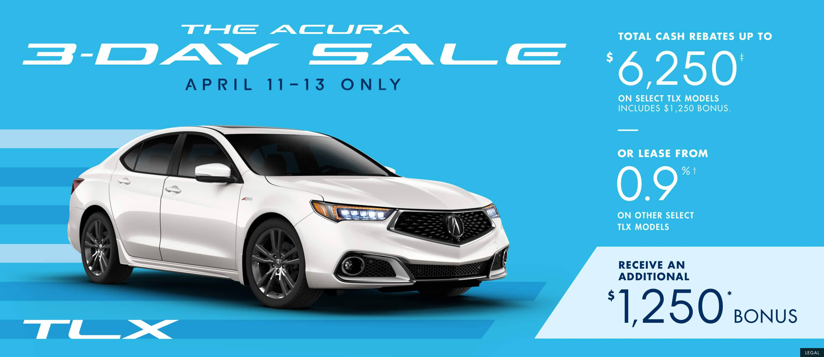 2019 Acura TLX | The Acura 3 Day Sale