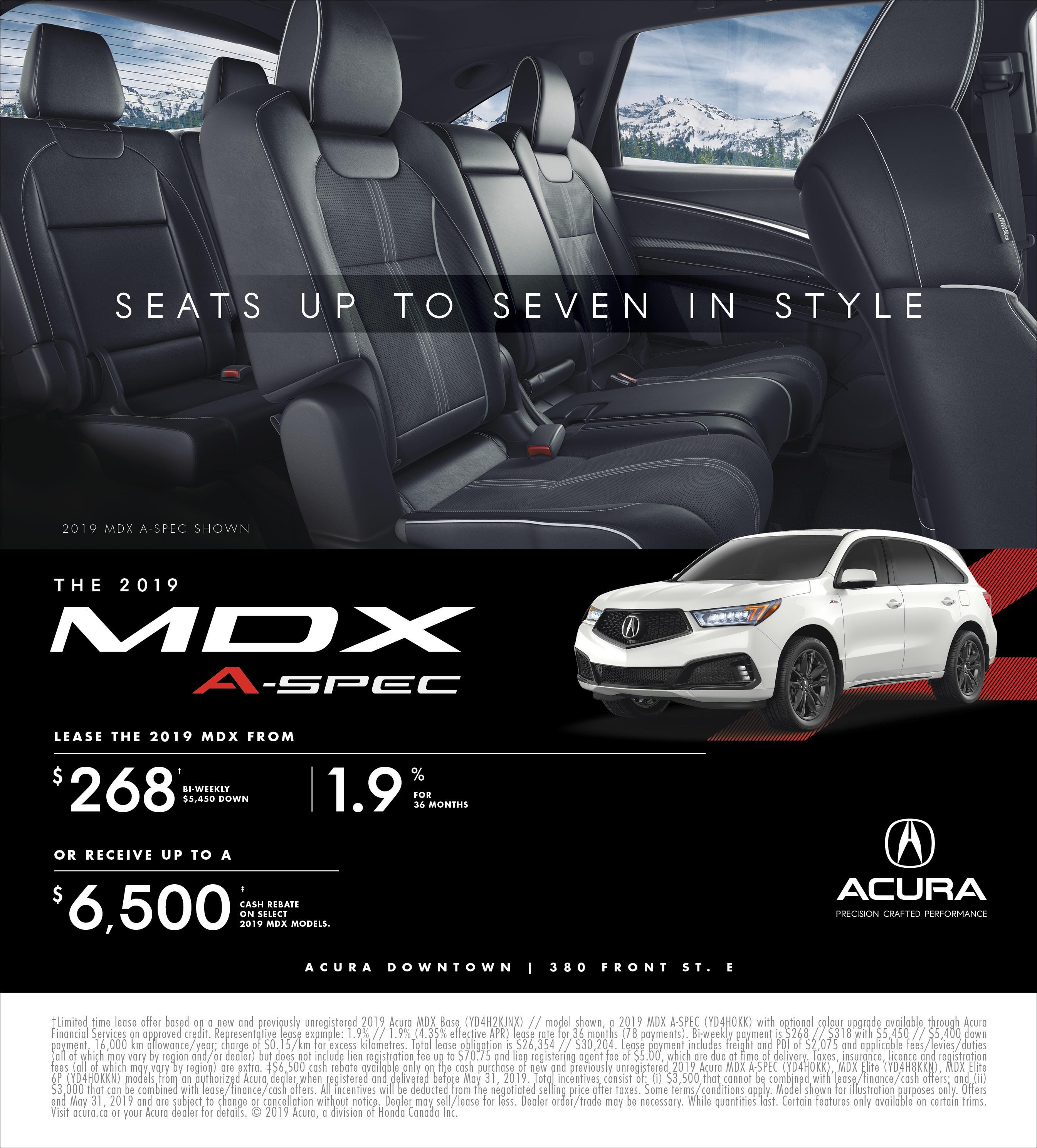 2019 Acura MDX   May