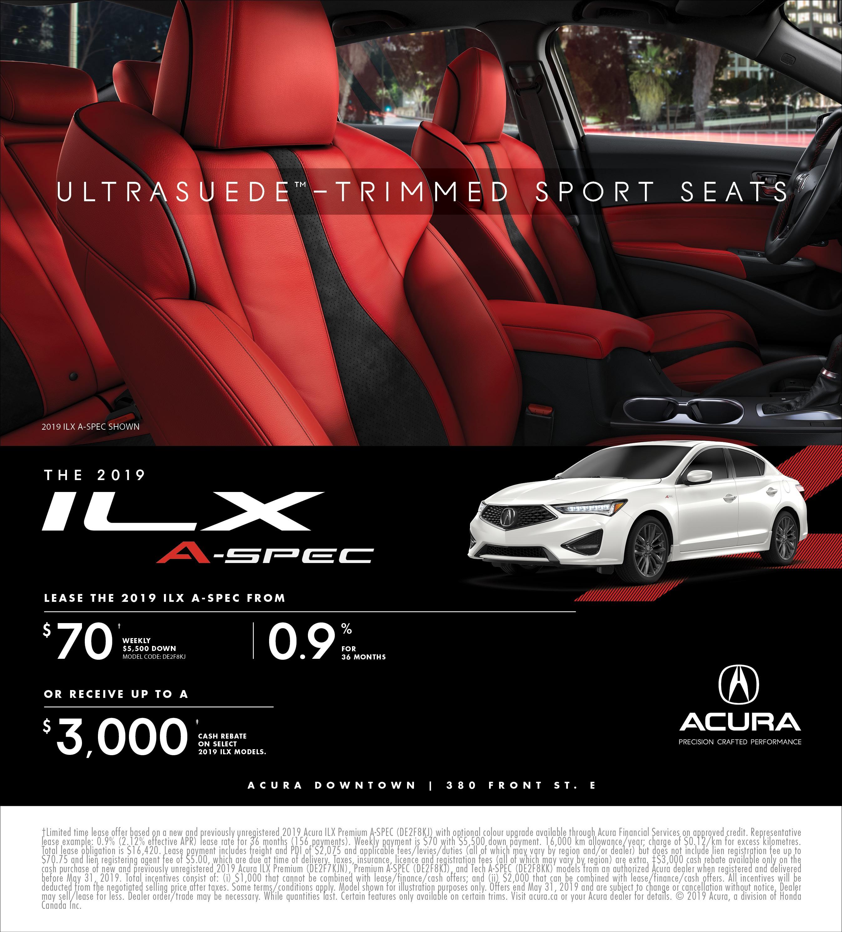 2019 Acura ILX   May