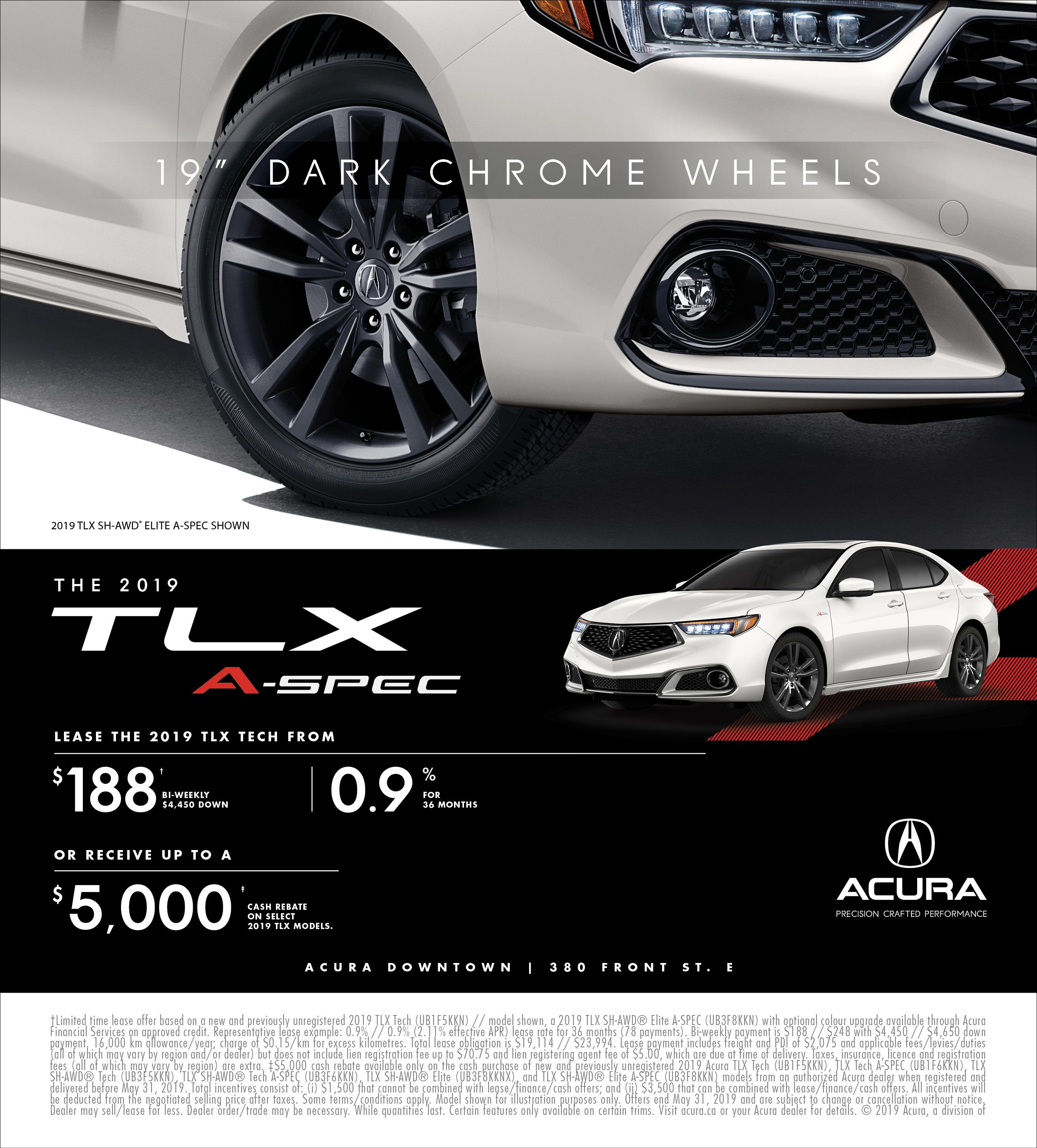 2019 Acura TLX   May
