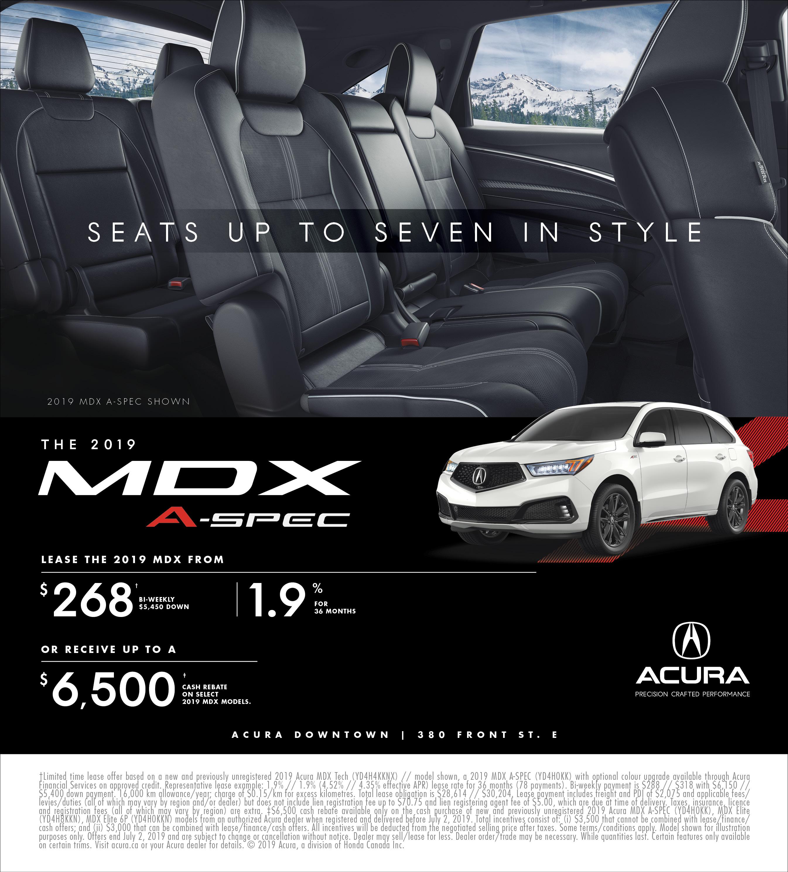 2019 Acura MDX | June