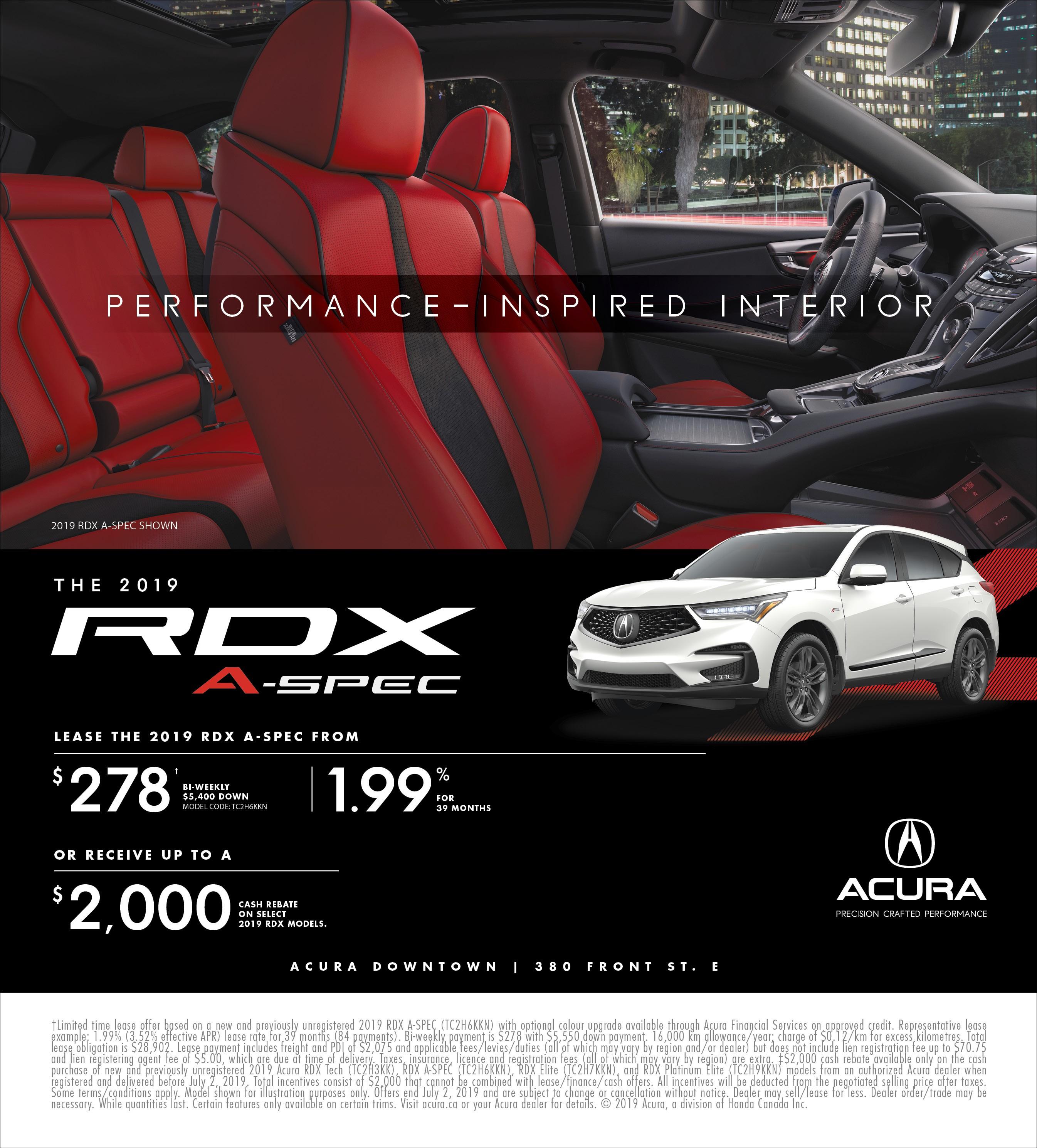 2019 Acura RDX | June