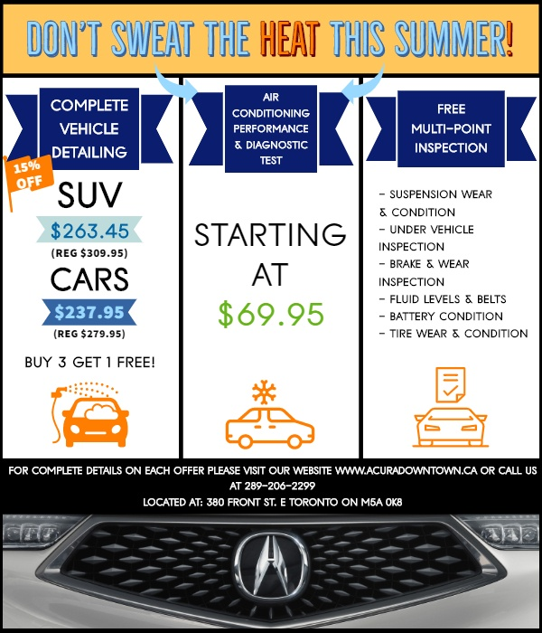 Service Summer Specials | Acura Downtown