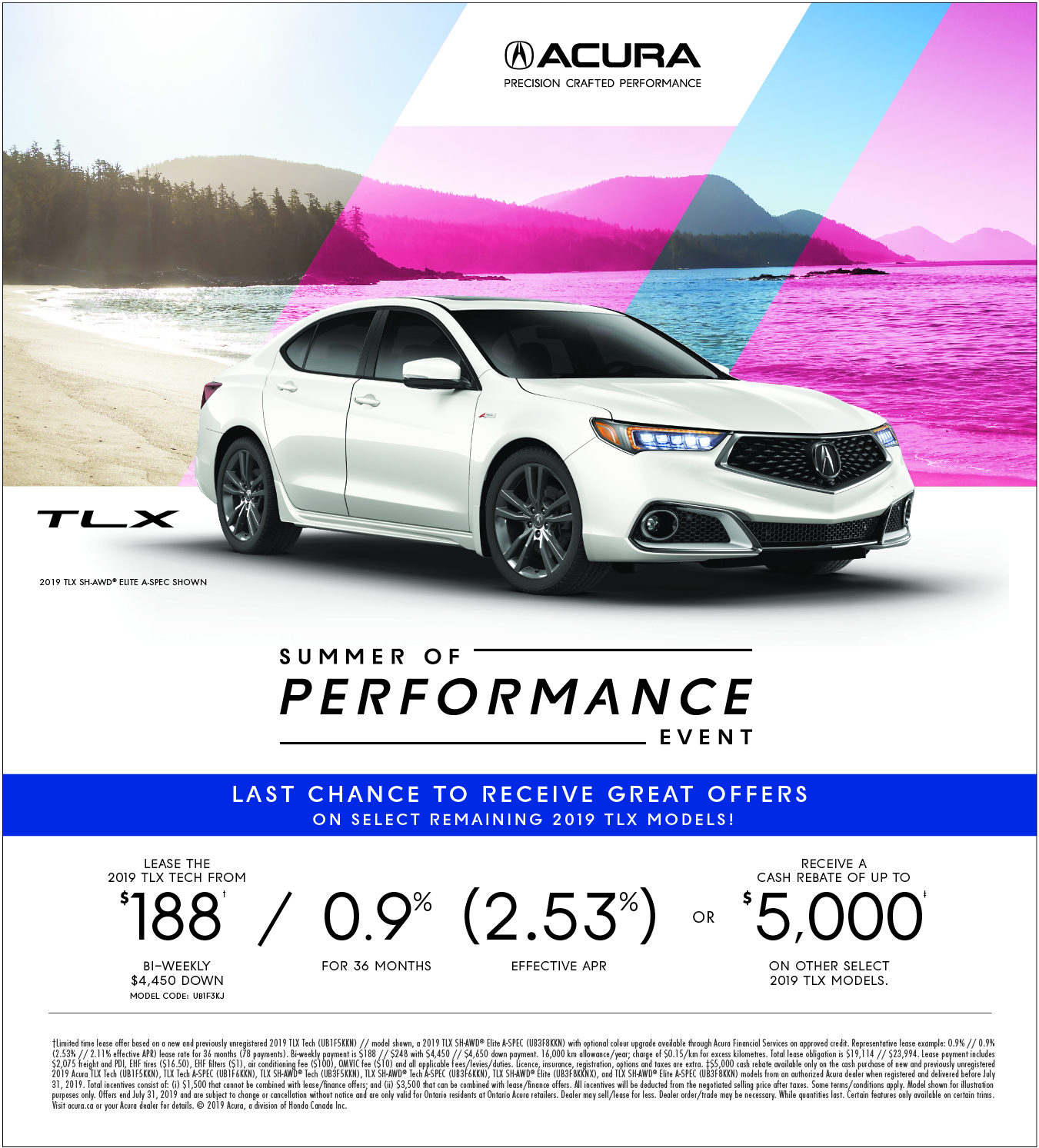 2019 Acura TLX | Summer of Performance Event