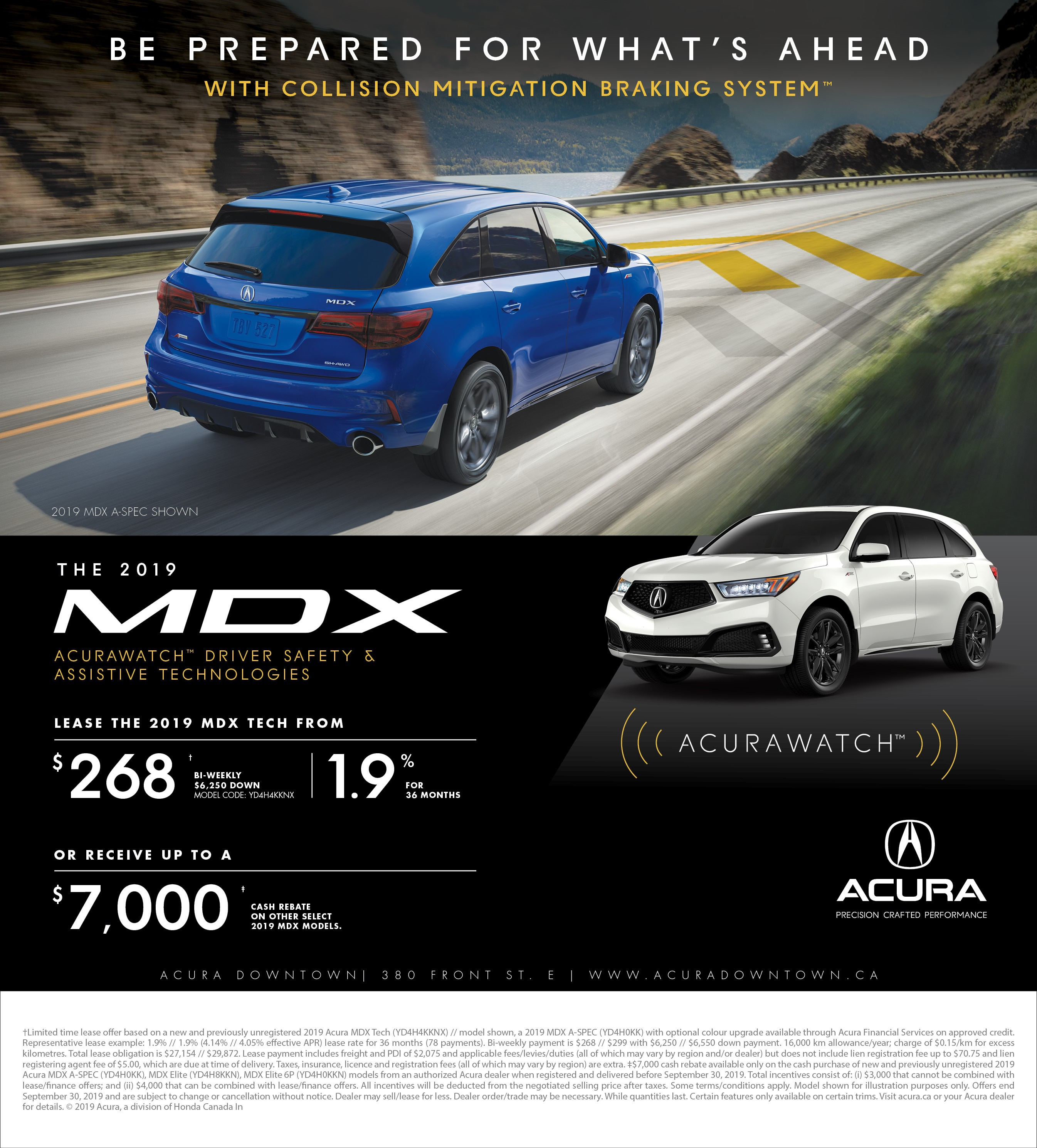 2019 Acura Mdx: September Special - Acura Downtown