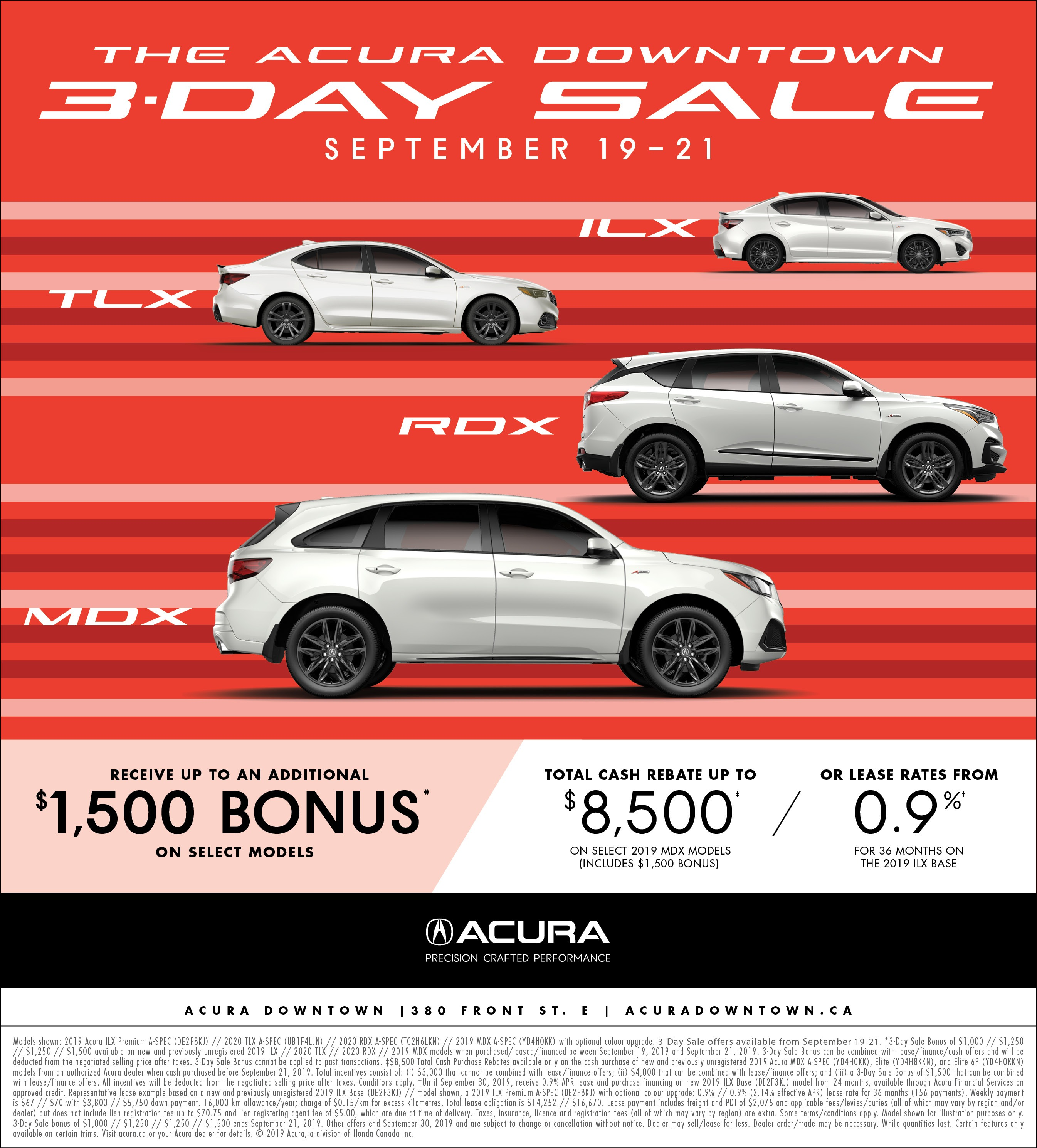 Acura Downtown 3-Day Sale